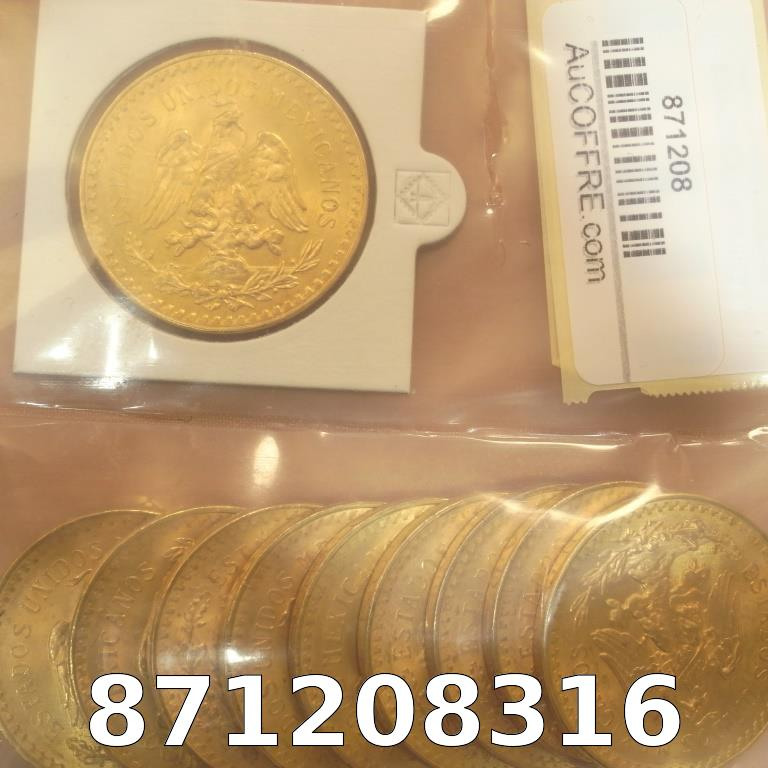 Réf. 871208316 1 gramme d\'or pur - 50 Pesos Mexique (LSP)  Issu d un lot de x10 50 Pesos - AVERS