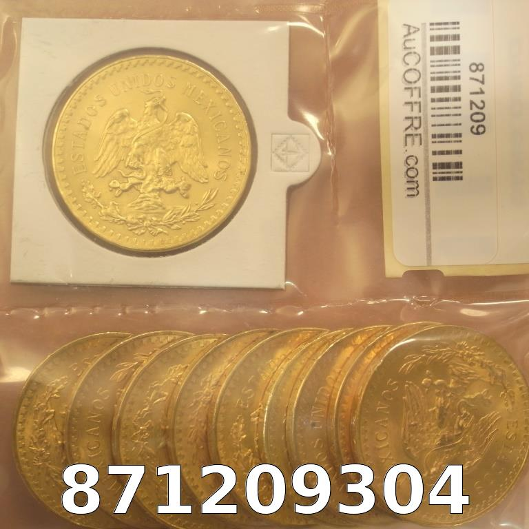 Réf. 871209304 1 gramme d\'or pur - 50 Pesos Mexique (LSP)  Issu d un lot de x10 50 Pesos - AVERS