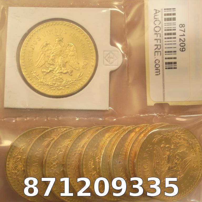 Réf. 871209335 1 gramme d\'or pur - 50 Pesos Mexique (LSP)  Issu d un lot de x10 50 Pesos - AVERS