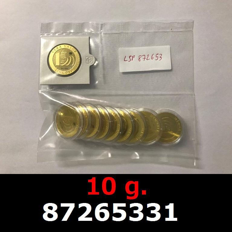 Réf. 87265331 10 grammes d\'or pur - Vera Valor (LSP)  Issu d un lot de 10 Vera Valor 1 once - AVERS