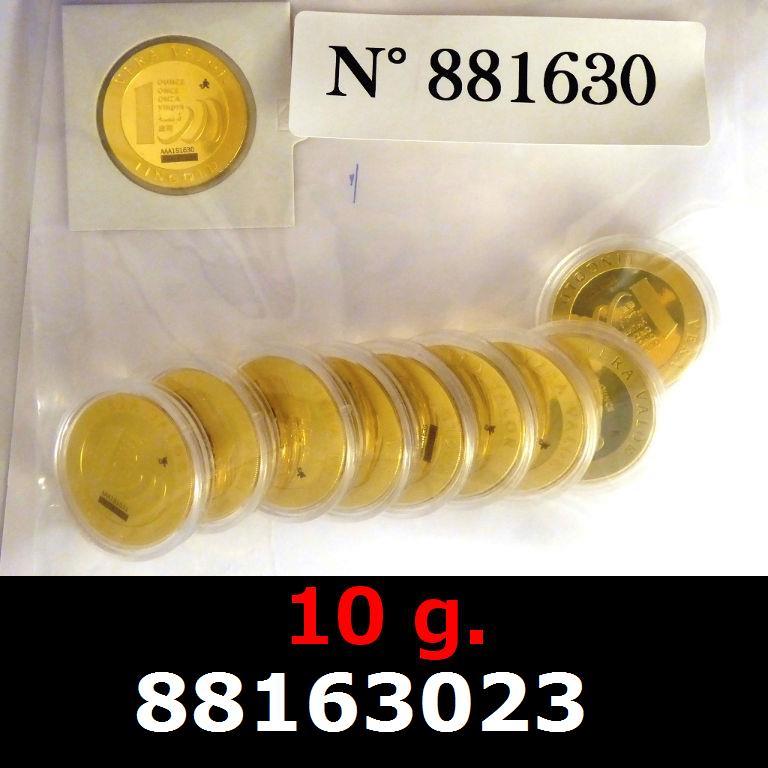 Réf. 88163023 10 grammes d\'or pur - Vera Valor (LSP)  Issu d un lot de 10 Vera Valor 1 once - AVERS