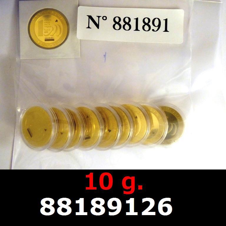 Réf. 88189126 10 grammes d\'or pur - Vera Valor (LSP)  Issu d un lot de 10 Vera Valor 1 once - AVERS