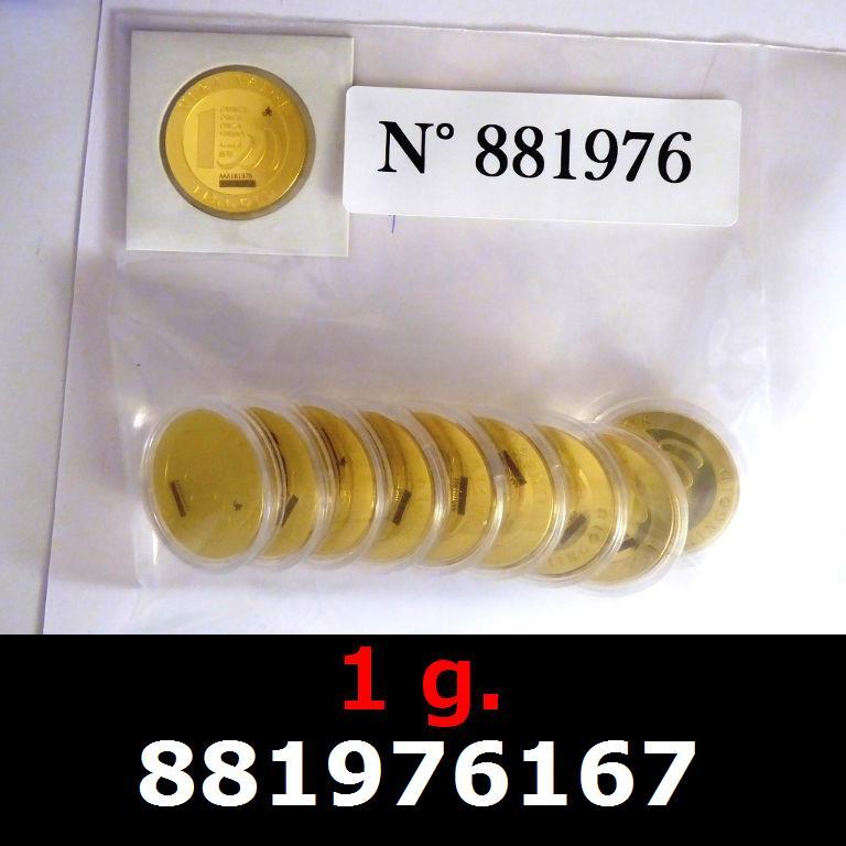 Réf. 881976167 1 gramme d\'or pur - Vera Valor (LSP)  Issu d un lot de 10 Vera Valor 1 once - AVERS