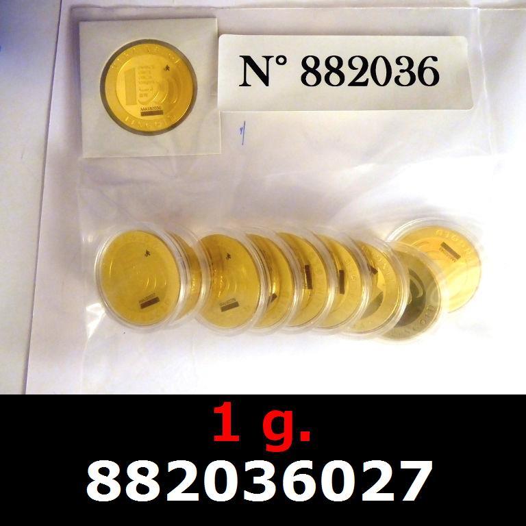 Réf. 882036027 1 gramme d\'or pur - Vera Valor (LSP)  Issu d un lot de 10 Vera Valor 1 once - AVERS