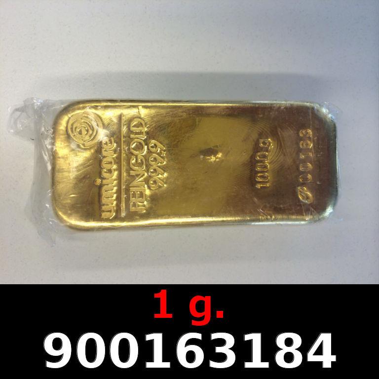 Réf. 900163184 1 gramme d\'or pur (Lingot LSP)  Issu d un lingot good delivery de 1 kilo - AVERS