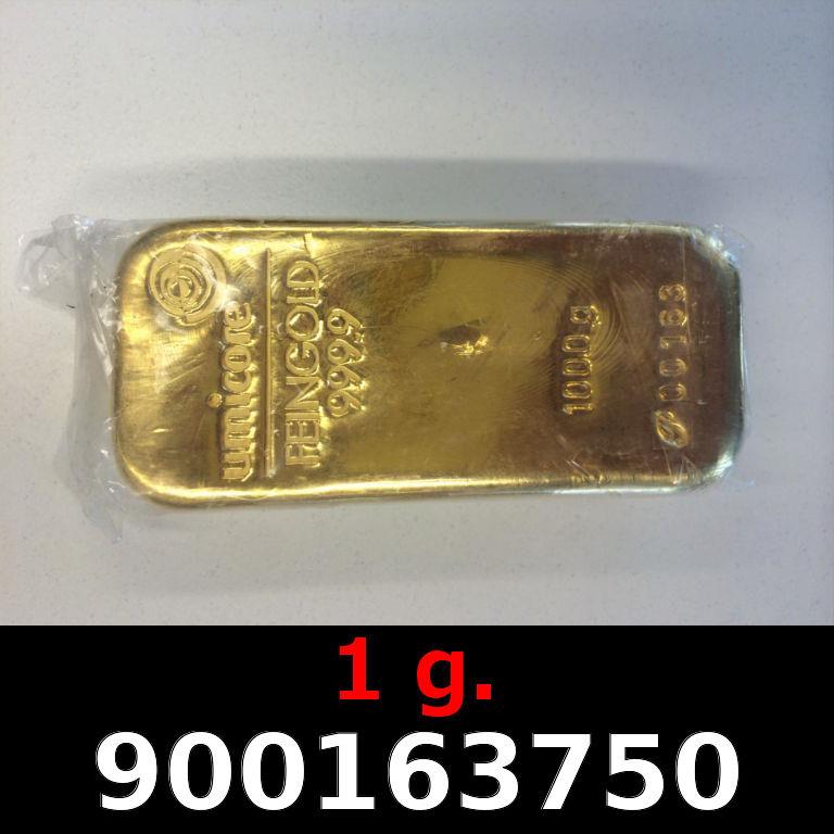 Réf. 900163750 1 gramme d\'or pur (Lingot LSP)  Issu d un lingot good delivery de 1 kilo - AVERS