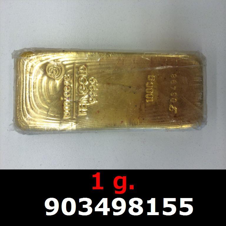 Réf. 903498155 1 gramme d\'or pur (Lingot LSP)  Issu d un lingot good delivery de 1 kilo - AVERS