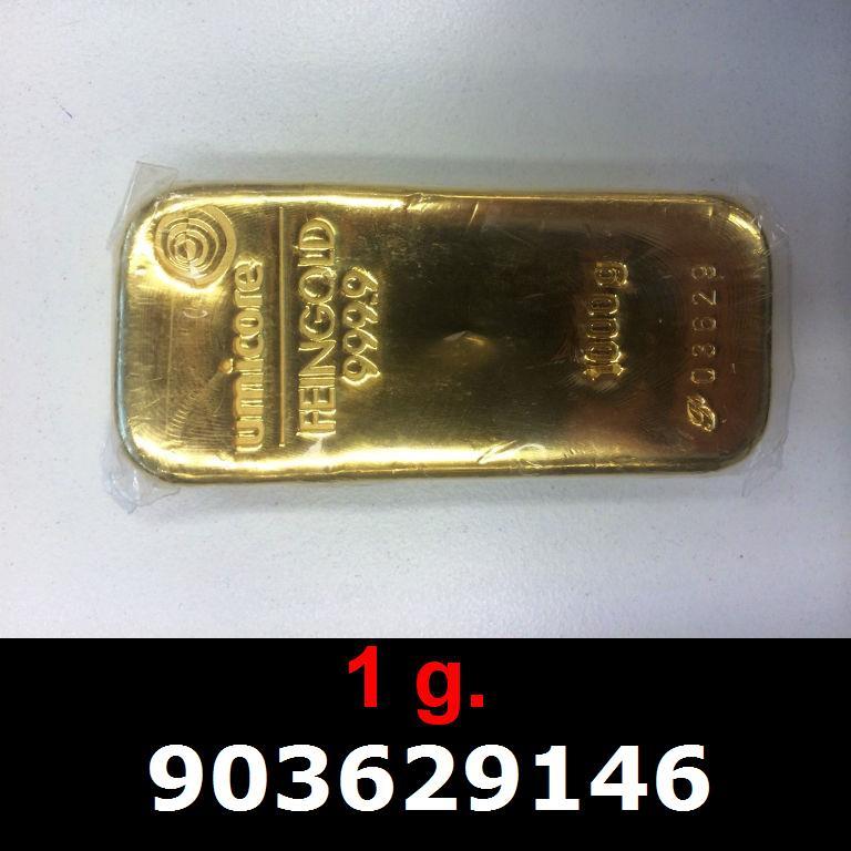 Réf. 903629146 1 gramme d\'or pur (Lingot LSP)  Issu d un lingot good delivery de 1 kilo - AVERS