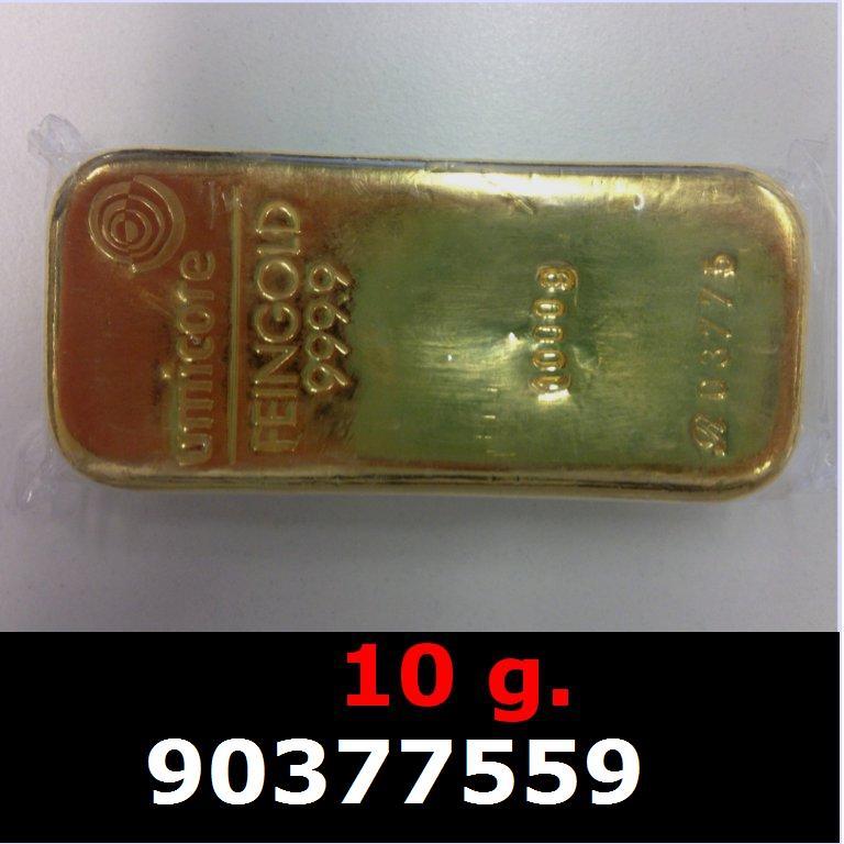Réf. 90377559 10 grammes d\'or pur (LSP)  Issu d un lingot good delivery de 1 kilo - AVERS