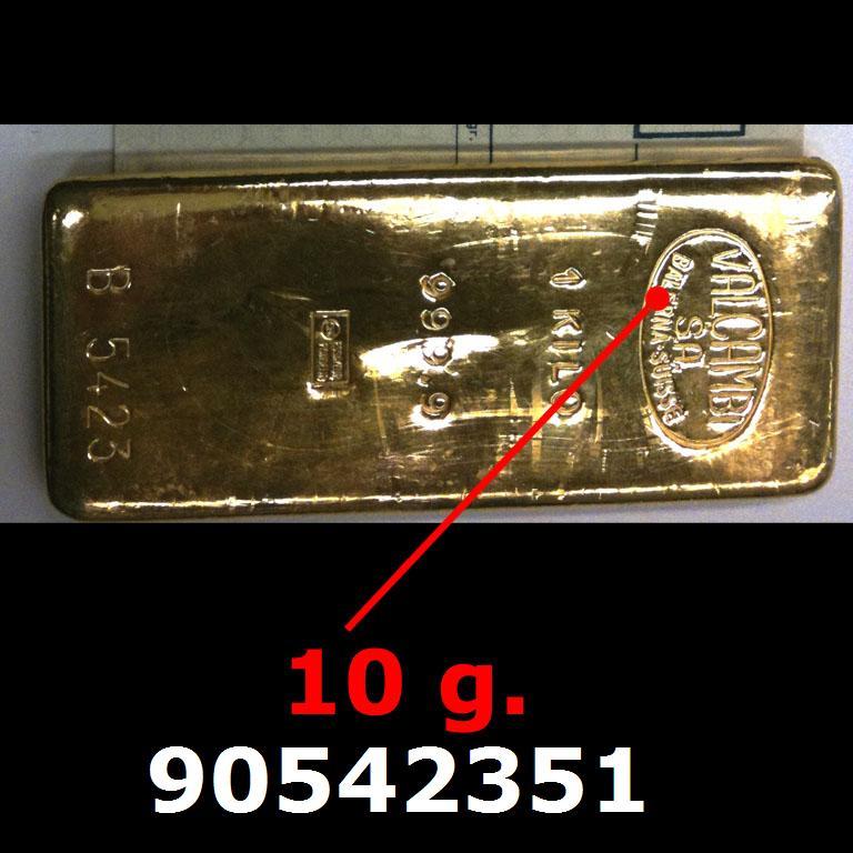 Réf. 90542351 10 grammes d\'or pur (LSP)  Issu d un lingot good delivery de 1 kilo - AVERS
