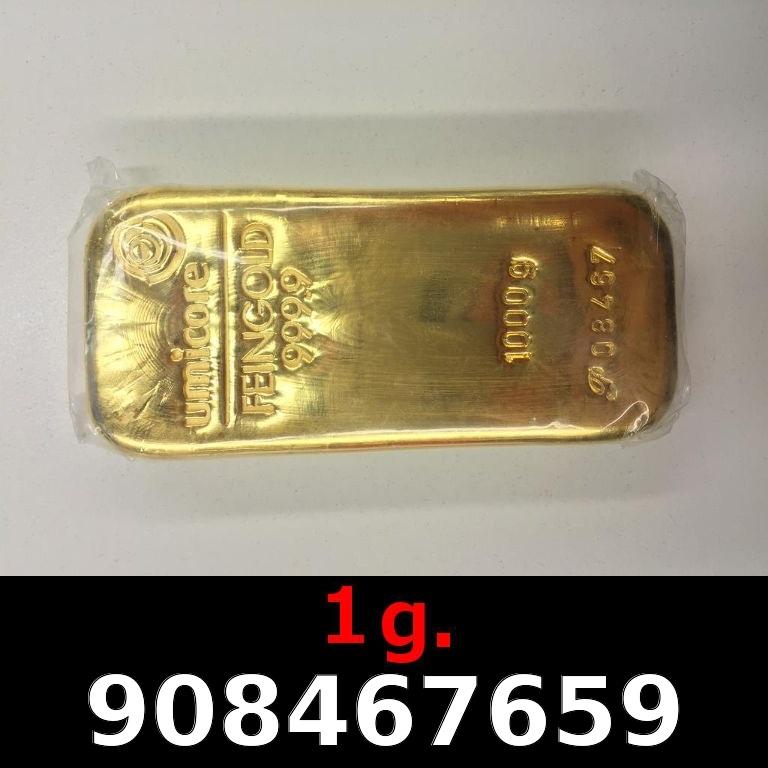 Réf. 908467659 1 gramme d\'or pur (Lingot LSP)  Issu d un lingot good delivery de 1 kilo - AVERS