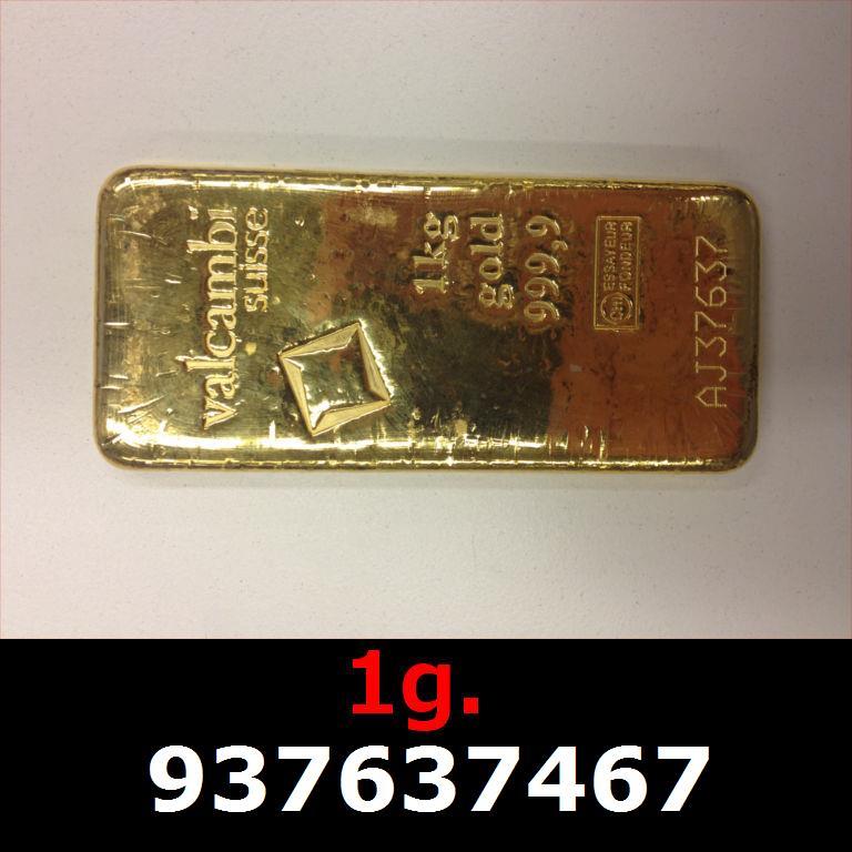 Réf. 937637467 1 gramme d\'or pur (Lingot LSP)  Issu d un lingot good delivery de 1 kilo - AVERS