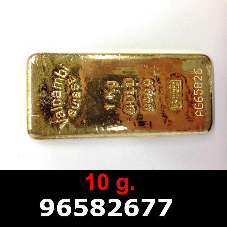 Réf. 96582677 10 grammes d\'or pur (LSP)  Issu d un lingot good delivery de 1 kilo - AVERS