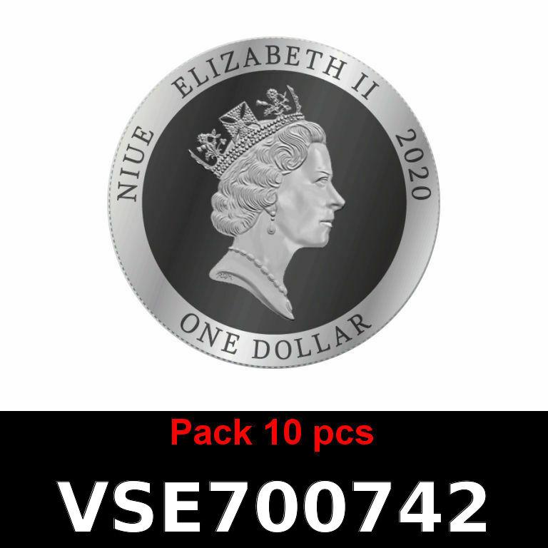 Réf. VSE700742 Lot 10 Vera Silver 1 once (Cours Légal - LSP)  Elizabeth II - Niue - AVERS