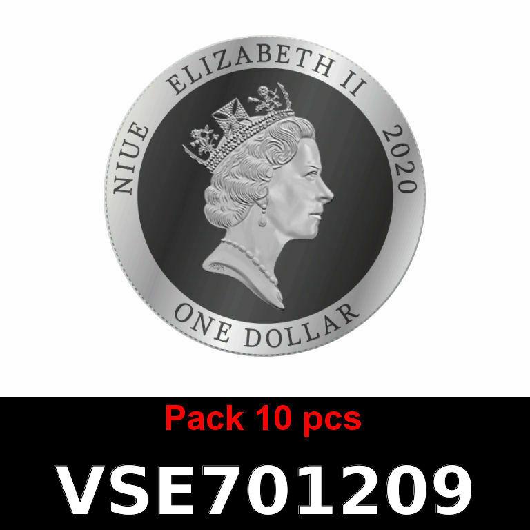 Réf. VSE701209 Lot 10 Vera Silver 1 once (Cours Légal - LSP)  Elizabeth II - Niue - AVERS