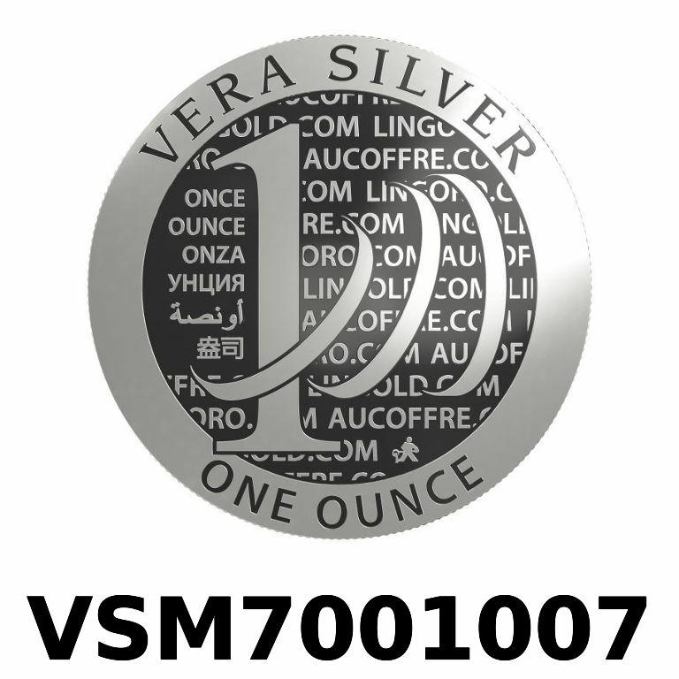 Réf. VSM7001007 Vera Silver 1 once (LSP)  Marianne terrassant le Dragon - AVERS