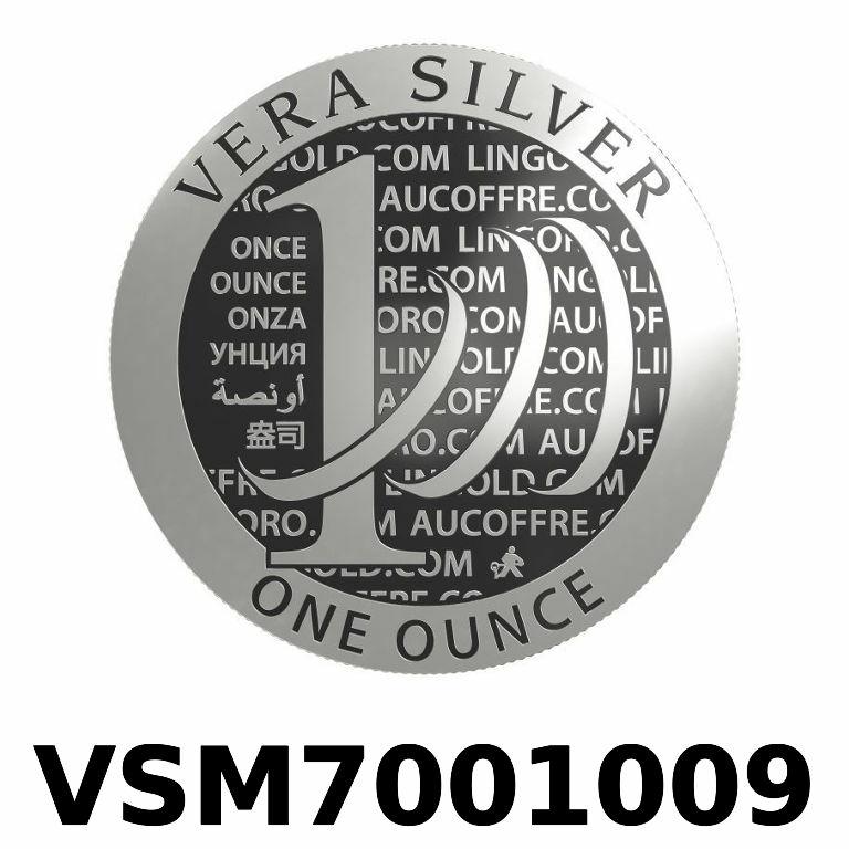 Réf. VSM7001009 Vera Silver 1 once (LSP)  Marianne terrassant le Dragon - AVERS