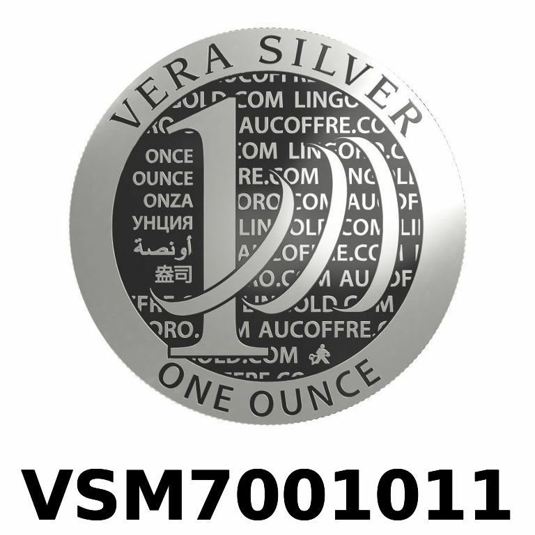 Réf. VSM7001011 Vera Silver 1 once (LSP)  Marianne terrassant le Dragon - AVERS