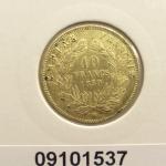 Réf. 09101537 Demi-Napoléon 10 Francs Napoléon III Tête nue - REVERS