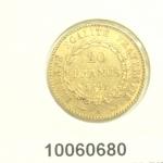 Réf. 10060680 Napoléon 20F  Génie IIIème République - REVERS