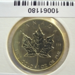 Maple Leaf 1 once 50 Dollars Canada Elizabeth II Jeune - 999