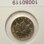 Maple Leaf 1/10 once 5 Dollars Canada Elizabeth II - 9999