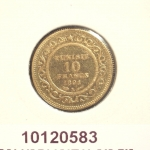 Réf. 10120583 Demi-Union Latine  Ali - 10 Francs - Tunisie - REVERS
