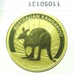 Réf. 11050131 Australian Nugget 1 once 100 Dollars Kangourou 2011 - REVERS