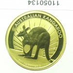 Réf. 11050134 Australian Nugget 1 once 100 Dollars Kangourou 2011 - REVERS