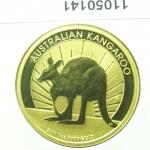 Réf. 11050141 Australian Nugget 1 once 100 Dollars Kangourou 2011 - REVERS