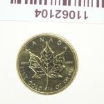 Réf. 11062104 Maple Leaf 1/4 once 10 Dollars Canada Elizabeth II avec tiare - REVERS