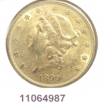 20 Dollars US (Double Eagle)  Liberty de Longacre - Twenty Dollars