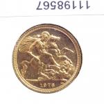 Réf. 11198567 Souverain Elisabeth II  Jeune et buste couronné (1973-1984) - REVERS