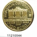 Philharmonique de Vienne 1 once - 100 Euros  Golden Hall Organ