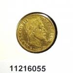 Demi-Napoléon 10F  Napoléon III Tête laurée, type définitif à grand 10