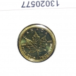 Maple Leaf 1/10 once 5 Dollars Canada Elizabeth  II Tête couronnée (1990-2001)