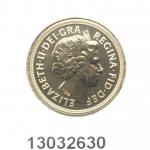 Souverain Elisabeth II  Tête avec tiare (depuis 1998)