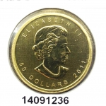 Maple Leaf 1 once - 50 Dollars   Elizabeth II - 9999
