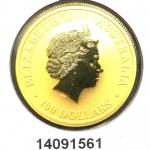 Réf. 14091561 Australian Nugget 1 once 100 Dollars Kangourou 2014 - REVERS