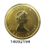Maple Leaf 1 once 50 Dollars Canada Elizabeth II Jeune - 9999