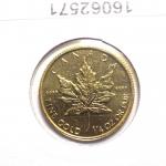 Réf. 16062571 Maple Leaf 1/4 once 10 Dollars Canada Elizabeth  II tête couronnée - REVERS