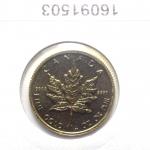 Réf. 16091503 Maple Leaf 1/4 once 10 Dollars Canada Elizabeth II avec tiare - REVERS