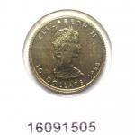 Réf. 16091505 Maple Leaf 1/4 once 10 Dollars Canada Elizabeth II avec tiare - REVERS