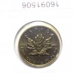 Réf. 16091506 Maple Leaf 1/4 once 10 Dollars Canada Elizabeth II avec tiare - REVERS