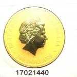 Australian Nugget 1 once 100 Dollars Kangourou 2014