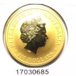 Australian Nugget 1 once 100 Dollars Kangourou 2016