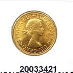 Réf. 20033421 Souverain Elisabeth II  Buste Lauré (1957-1968) (LSP) - REVERS