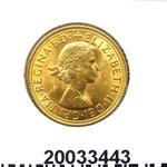 Réf. 20033443 Souverain Elisabeth II  Buste Lauré (1957-1968) (LSP) - REVERS