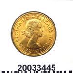 Réf. 20033445 Souverain Elisabeth II  Buste Lauré (1957-1968) (LSP) - REVERS
