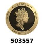 Vera Valor 1 once (Cours Légal - LSP)  Elizabeth II - Niue